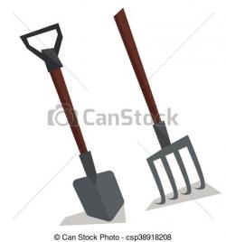 Pitchfork clipart shovel