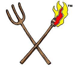 Torch clipart pitchfork