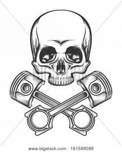 Pitons clipart skull