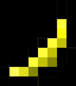 Pixel clipart banana