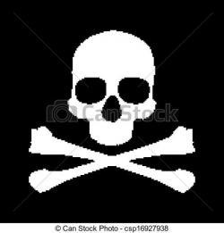 Pixel clipart skull