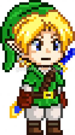 Pixel clipart zelda