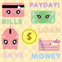 Cash clipart cute
