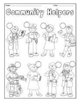 Place clipart community worksheet