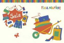 Place clipart flea market