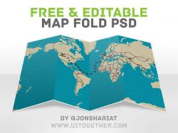 Pl clipart folded map