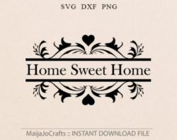Tea Party clipart home sweet home