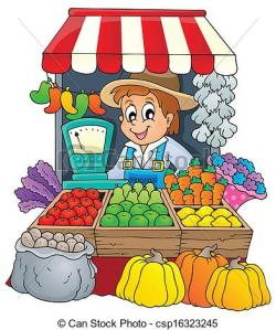 Market clipart drawing picture