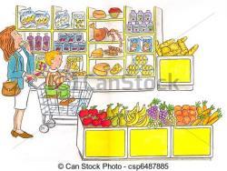 Pl clipart supermarket building
