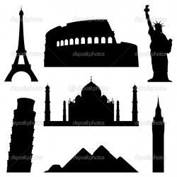 Landmark clipart silhouette