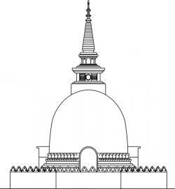 Buddha clipart stupa