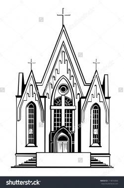Steeple clipart old church