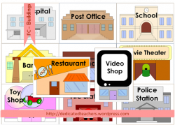 Places clipart community flashcard
