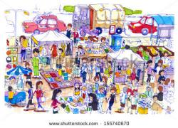 Places clipart flea market