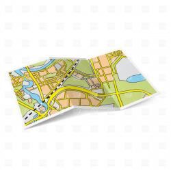Place clipart folded map