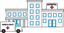 Hospital clipart black and white
