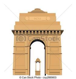 Landmark clipart india gate