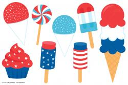 Cupcake clipart 4th july