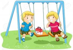 Swing clipart for kid