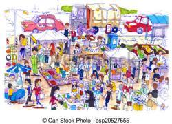Market clipart bazaar