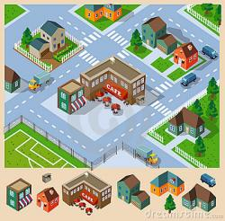 Place clipart neighborhood map