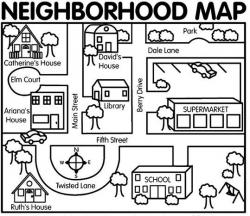 Places clipart neighborhood map