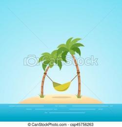 Hammock clipart tropical paradise