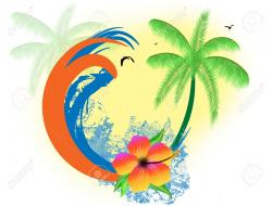 Sunset clipart tropical paradise