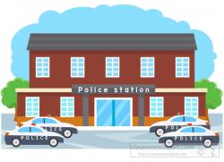 Places clipart police station building