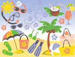 Sandy Beach clipart seaside