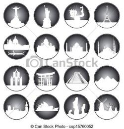Places clipart world icon