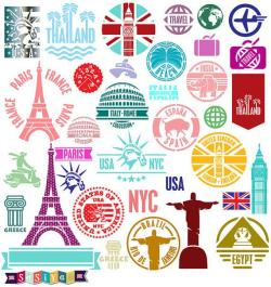 Travel clipart travel stamp