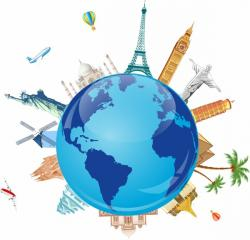Place clipart world travel