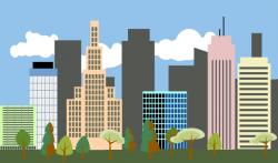 Skyscraper clipart city landscape