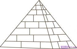 Drawn pyramid ancient egypt pyramid