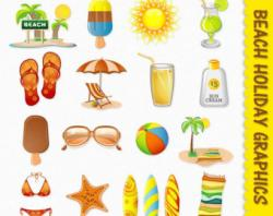 Places clipart sunny holiday
