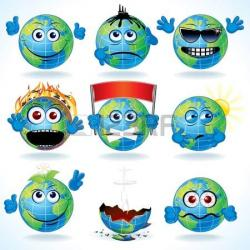 Planet Earth clipart caricature