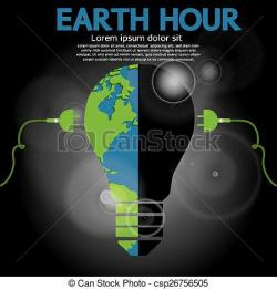Planet Earth clipart earth hour