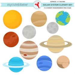 Planets clipart solar system