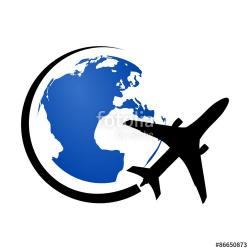 Planet Earth clipart plane