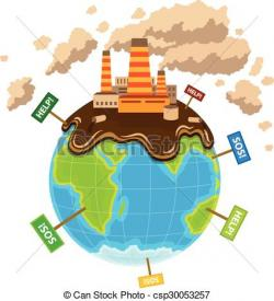 Planets clipart pollution