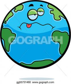 Planet Earth clipart sick