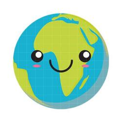 Planet Earth clipart smiley