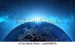 Planet Earth clipart the universe
