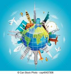 Planet Earth clipart travel