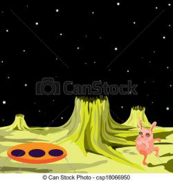 Saucer clipart alien planet