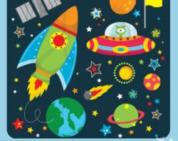Rocket clipart art and craft