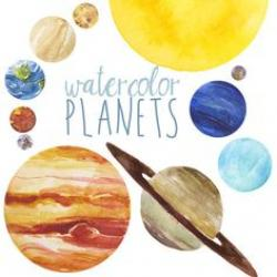 Planets clipart colour our