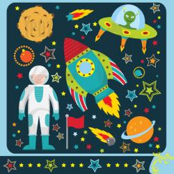 Rocket clipart outer space