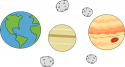 Planet clipart asteroid